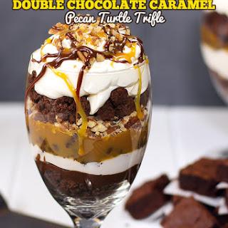 Double Chocolate & Caramel Turtle Trifle.