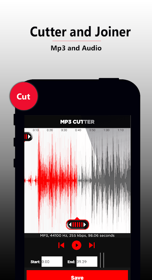 MP3 Cutter and Joiner , Merger- screenshot