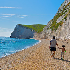 Father and Son by Ibrahim Johan - Landscapes Waterscapes ( summer, beach, landscapes )