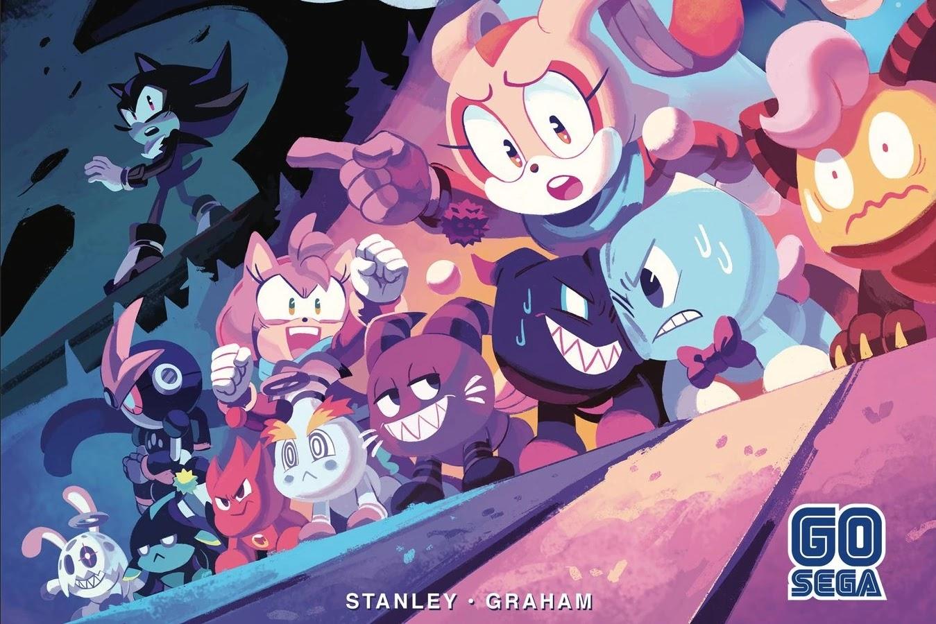 Okładka RI do numeru 33 komiksu IDW Sonic