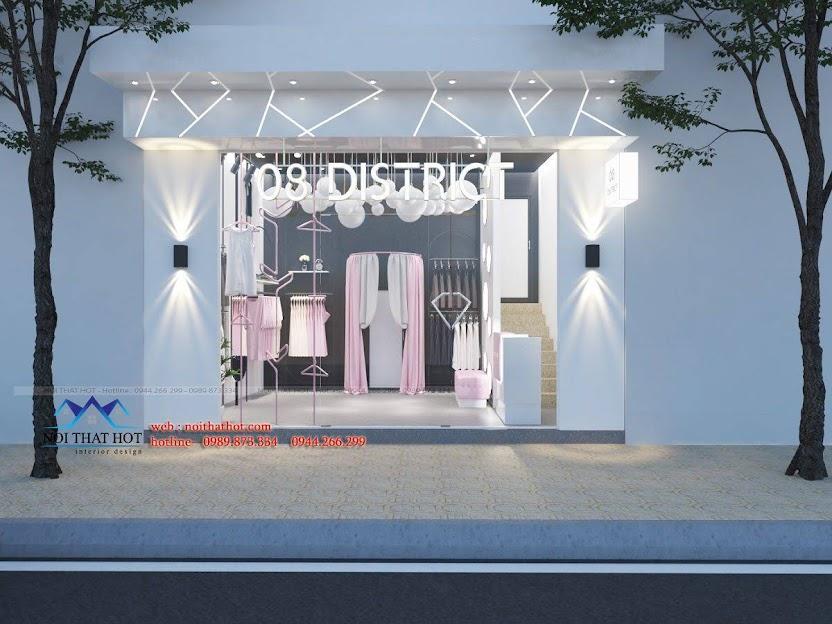 thiết kế shop đồ lót và đồ ngủ nội y 1