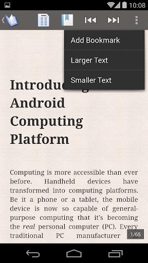 ePub Reader for Android 2.1.2 screenshots 3