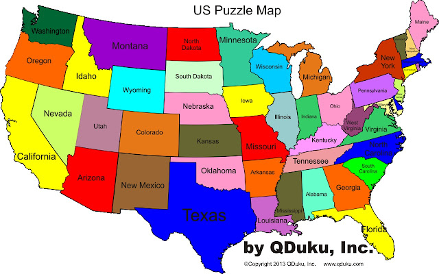 U.S States Map Game USMap Puzzle Game