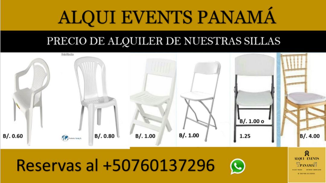 Alquiler De Sillas Y Mesas En Panama Alqui Events Panama Ofrecemos