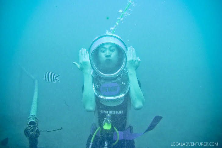 Helmet Diving Indonesia (Bali Activities).