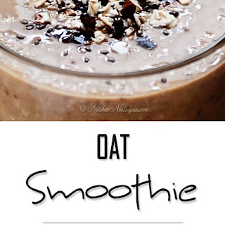 Banana Oat Breakfast Smoothie.