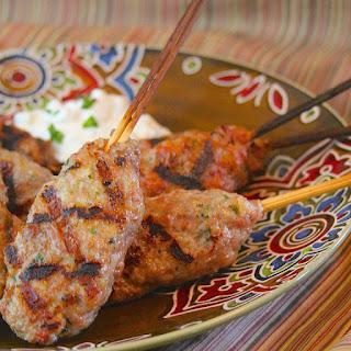 Kofta Kebabs with Tzatziki Sauce