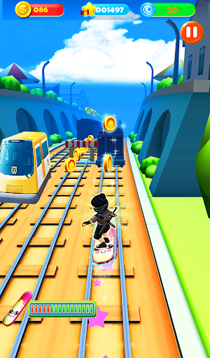 Ninja Subway Surf: Rush Run In City Rail screenshot 1
