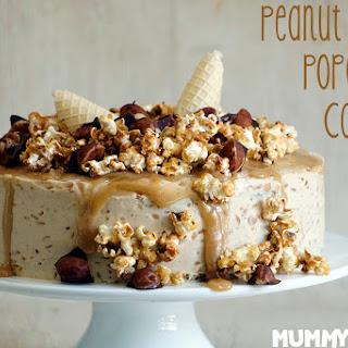 Peanut Butter, Popcorn and Caramel Cake