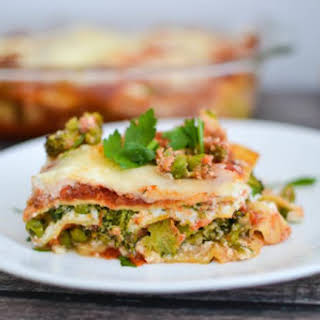 Healthy Spring Vegetable Lasagna.