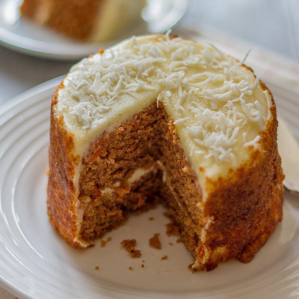 coconut flour carrot cake cupcakes