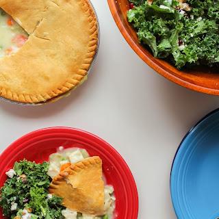 Kale, Walnut & Pomegranate Salad and Chicken Pot Pie