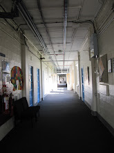 Photo: One of the corridors in Bredon Building, St. John's Campus, University of Worcester