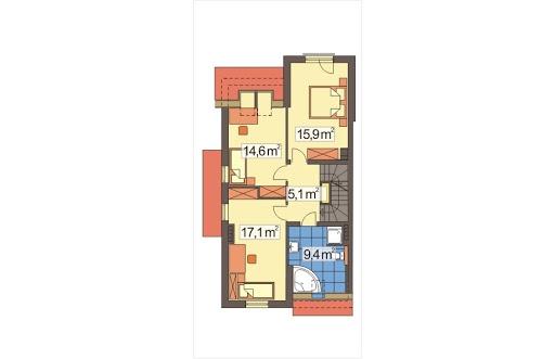 Mozaika segment skrajny lewy - Rzut piętra