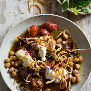 Lebanese Spiced Chickpeas & Eggplant With Pita