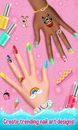 Nail Art Shiny Design Salon - Sweet Girls Manicure image
