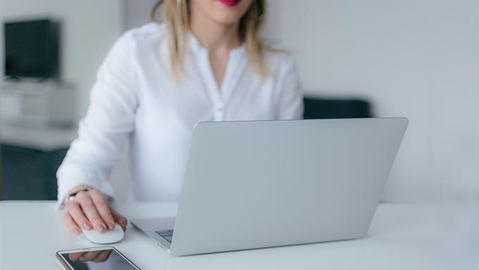 Lady doing Godaddy email setup