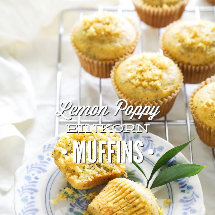 Lemon Poppy Seed Einkorn Muffins