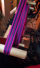 Photo: -- the warp on my loom in time for the booth display