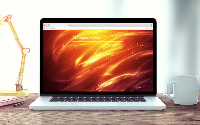Orange New Tab Background Theme
