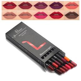 Set LipLiner - creion contur pentru buze 12 culori