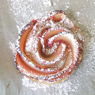 Strawberry Apple Rose Puff Pastry
