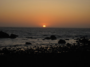 Photo: Sonnenuntergang direkt vor der Jugendherberge