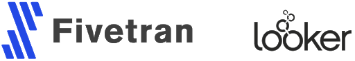 Fivetran and Looker logo