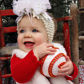 Cheese for Santa by Jamie Hodge - Public Holidays Christmas ( christmas, blue eyes, baby, smile, portrait,  )