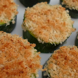 Panko and Parmesan Topped Zucchini Appetizer -Diabetes Friendly