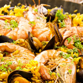 Seafood Paella recipe | Epicurious.com.