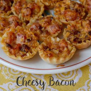 Cheesy Bacon Rotel Phyllo Cups.