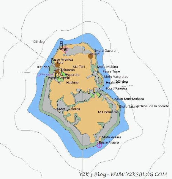 Huahine - Mappa