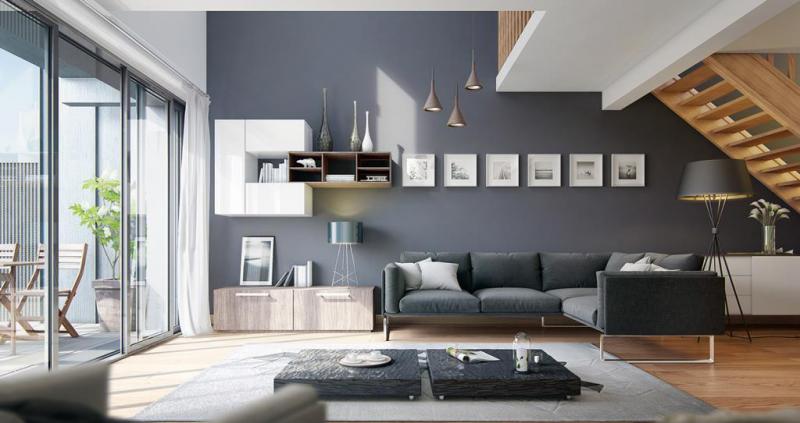 sơn nhà đẹp màu xám