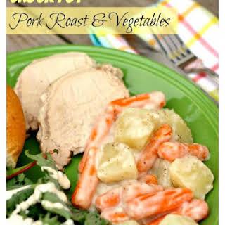 Crock Pot Pork Roast and Vegetables.