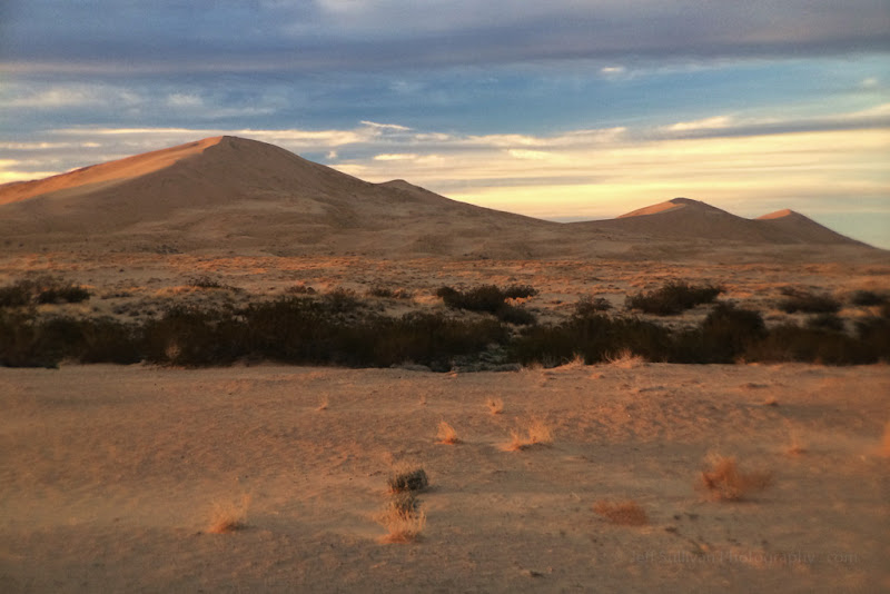 Photo: Kelso Dunes at sunset, Mojave National Preserve