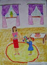Photo: Мураш Алиса. 7 лет. День рождения. Студ. Натальи Ланге. Израиль. г. Беэр-Шева