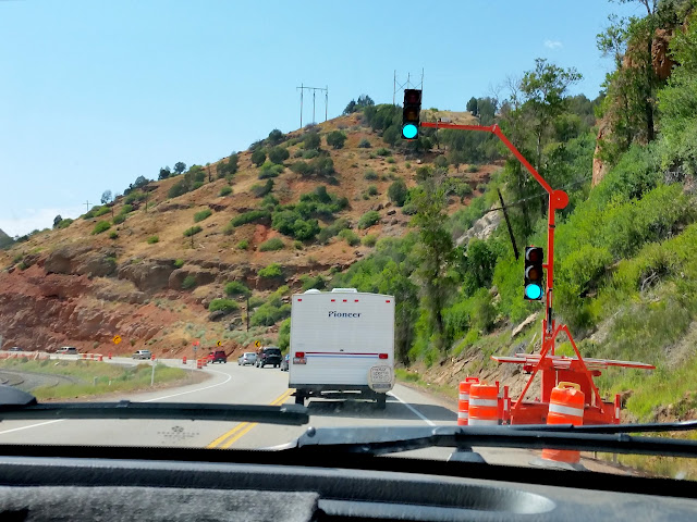 Construction traffic in Spanish Fork Canyon