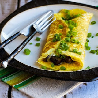 Sunday-Morning Omelet with Mushrooms and Goat Cheese