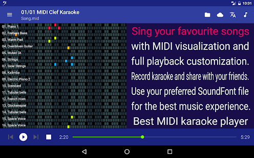 MIDI Clef Karaoke Player- screenshot thumbnail