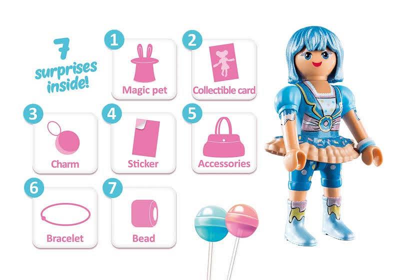 Contenido real de Playmobil® 70386 Candy World: Clare
