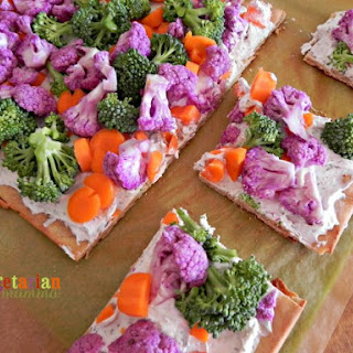 Veggie Pizza ~ a gluten free treat perfect for lunch, dinner or a snack!