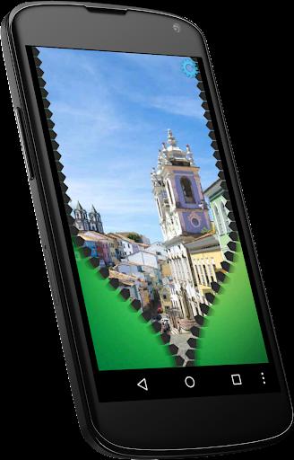 brazil flag zipper lock screen