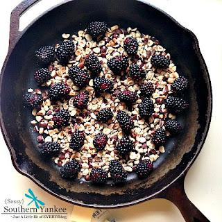 Blackberry Hazelnut Flaugnarde {Gluten & Dairy Free}