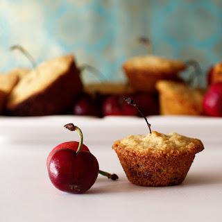 Sweet Cherry Cornbread Muffins
