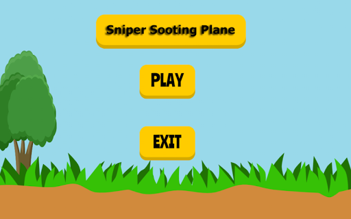 Sniper Sooting Plane Game