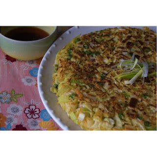 Cabbage Leek & Carrot Pancake