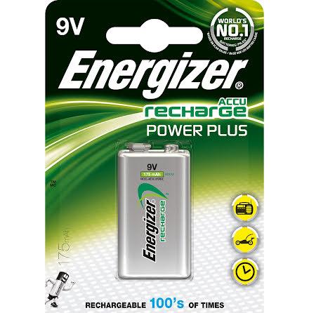 Batteri Laddbart Energizer 9V