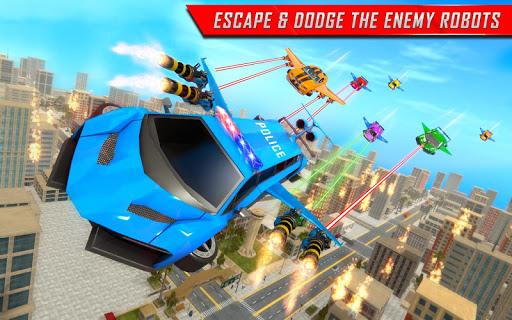 Flying Limo Robot Car Transform: Police Robot Game screenshots 10