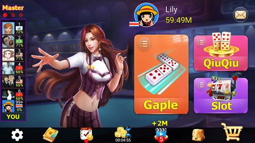 Gaple  Domino Online Zik Games QiuQiu/99/Slot 2020 4.7.4 screenshots 9